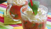 Recette : Cappuccino glacé tomate-mozza