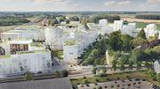 Voici ce à quoi pourrait ressembler dans le futur le quartier dit de la gare à Gembloux. On prévoit d'y construire 900 logements. Il s'agira principalement d'immeubles à appartements de 1 à 8 étages. Une école, une crèche et un parc seront également construits sur le site de 15 hectares.