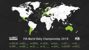 Quatorze rallyes, dont un inédit au Chili, au calendrier du WRC en 2019