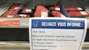 Chez Delhaize, on tente de rassurer les clients.