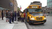 Un autobus spécial est affrété pour emmener quarante personnes immigrantes découvrir la petite ville québécoise de Granby.