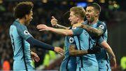 Man City, lancé par un but de De Bruyne, domine West Ham et fait la bonne opération