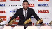 Messi a reçu son cinquième Soulier d'Or de meilleur buteur en Europe