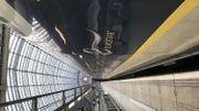 L'Eurostar en gare de St Pancras quelques minutes avant l'arrivée des 900 passagers