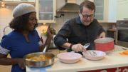 Dans le frigo de Cécile Djunga : Poulet curry-amandes et kakis