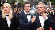 """Cannes 2014 - Présentation à la presse de """"Saint Laurent"""", coproduction belge avec Jérémie Renier"""