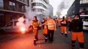 Des travailleurs dans le centre d'Anvers ce lundi matin