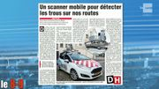 Bientôt un scanner mobile pour détecter les trous sur nos routes