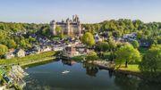 Pierrefonds a été rebâti comme un château du Moyen-Age tel qu'on le rêvait au 19e siècle.