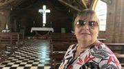 """Jacqueline Didier est originaire d'Arlon. Elle est arrivée à Monte Alegre en 1963 avec sa famille. Elle avait 8 ans. Aujourd'hui, pour elle, l'église du village, à l'architecture très particulière, est """"la chose le plus importante qui reste du patrimoine des Belges"""" à Monte Alegre."""
