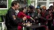 """Petit moment """"électrifiant"""" entre Max Verstappen et DJ Tiësto avant le Grand Prix du Mexique"""