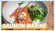 Tuto du chef: Saumon mariné, ricotta et épinards