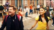 Ariana Grande et James Corden poussent à la vaccination dans une parodie de comédie musicale