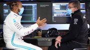"""Lewis Hamilton a retrouvé le volant d'une F1 : """"Les sensations sont bonnes"""""""