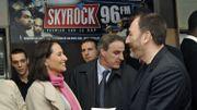 Pierre Bellanger, patron de la radio française Skyrock, ici en compagnie de Ségolène Royal en 2007.