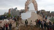Voilà ce qu'il reste de la tour historique de Dharhara