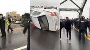 Oui, ces vidéos montrent bien des émeutes en Chine à cause du coronavirus