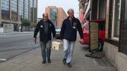 Charles Coppein et Guy Verniers arrivent sur chantier