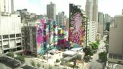 Un projet d'art urbain de 10.000 mètres carrés prend forme dans le centre de São Paulo