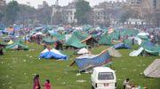 Les camps de fortune dans lesquels se sont réfugiés les survivants du séisme