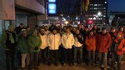 Piquets de grève de la police à Charleroi, Liège et Bruxelles