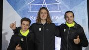 De gauche à droite, Stef Vandeweyer, Sebbe De Buck et Seppe Smits