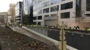 Les gilets jaunes en Belgique: une cinquantaine d'interpellations, Schuman bouclé