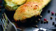 Recette : courgettes farcies à la polenta