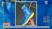 Des baskets à partir du sac bleu IKEA, c'est possible