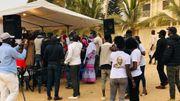 Dans le quartier des Almadies, en soutien de Macky Sall.