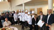 Les participants au concours du meilleur chef de cuisine collective 2018