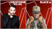 """Christophe Willem et Black M, nouveaux coachs de The Voice Belgique: """"C'est un nouveau challenge!"""""""