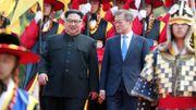 Rencontre historique cette nuit entre les dirigeants des deux Corées Kim Jong et Moon Jae-in (photos et vidéos)