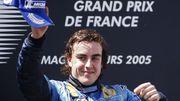 Fernando Alonso a conquis ses deux titres mondiaux avec Renault en 2005 et 2006.