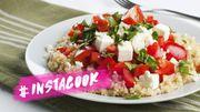 #InstaCook : une salade de quinoa, feta, tomate et basilic