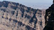 Le Wadi Ghul, le grand canyon d'Arabie, visible depuis Jebel Shams, la plus haute montagne du pays.