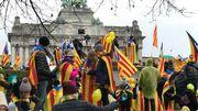 Manifestation pour l'indépendance catalane: 45.000 personnes dans les rues de Bruxelles
