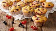 La recette à 3 ingrédients de Candice: Muffins aux fruits rouges sans farine