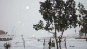 Neige dans la péninsule du Sinaï, ce 13 décembre