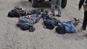 Soupçonnés d'avoir utilisé un lance-roquettes portable pour abattre deux hélicoptères de l'armée, ces 4 militants pro-russes ont été arrêtés par l'armée ukrainienne.