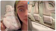 De quelles couleurs voyez-vous les sneakers de Billie Eilish? (roses ou vertes? )