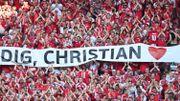 """Euro 2020: la visite de Christian Eriksen """"donne un gros coup de boost"""" aux Danois avant la Russie"""