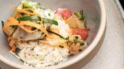 Saveurs marines: Lotte (ou cabillaud) aux pamplemousses et riz basmati