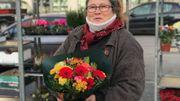 Christine, fleuriste sur les marchés