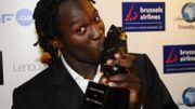 Romélu Lukaku avec son Soulier d'Ebene