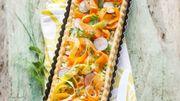 Recette: Tarte fraîche aux carottes et brousse aux herbes
