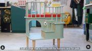 Une chaise conçue pour travailler à côté de votre animal de compagnie