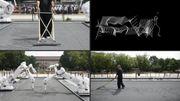 Des robots reconvertis en jardiniers zen sont exposés au JO de Tokyo