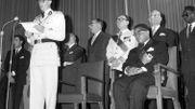 Cérémonie officielle de l'indépendance du Congo en présence du roi Baudouin et de Joseph Kasavubu