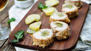 Recette : bouchées croustillantes de dinde au pesto